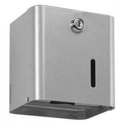 Distributeur de papier WC - Gris métal - 2 paquets ou 1 rouleau - Leader Equipements