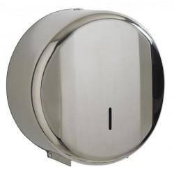 Dérouleur mini Jumbo de papier toilette 200 m - Inox brillant - Leader Equipements