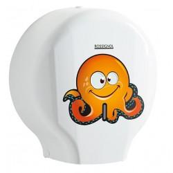 Spécial enfants - Dérouleur Jumbo de papier toilette - ABS + adhésif ludique - Leader Equipements