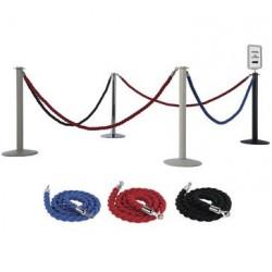 Poteau pour corde torsadée de guidage