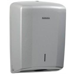 Distributeur d'essuie-mains feuilles à feuilles en ABS gris métallisé - LENSEA - Leader Equipements