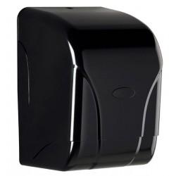 Grand distributeur en ABS noir d'essuie-mains à dévidage central - Oléane 450 formats - Leader Equipements