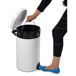 Poubelle pour sanitaire 20 L avec pédale et seau antibactérien Sanelia - Leader Equipements
