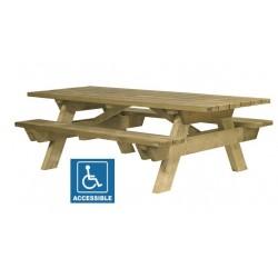 Table de picnic en bois Berlin pour PMR