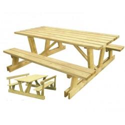 Table de picnic en bois spécial montagne