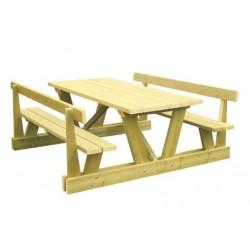 Table pique-nique en bois Montagnarde