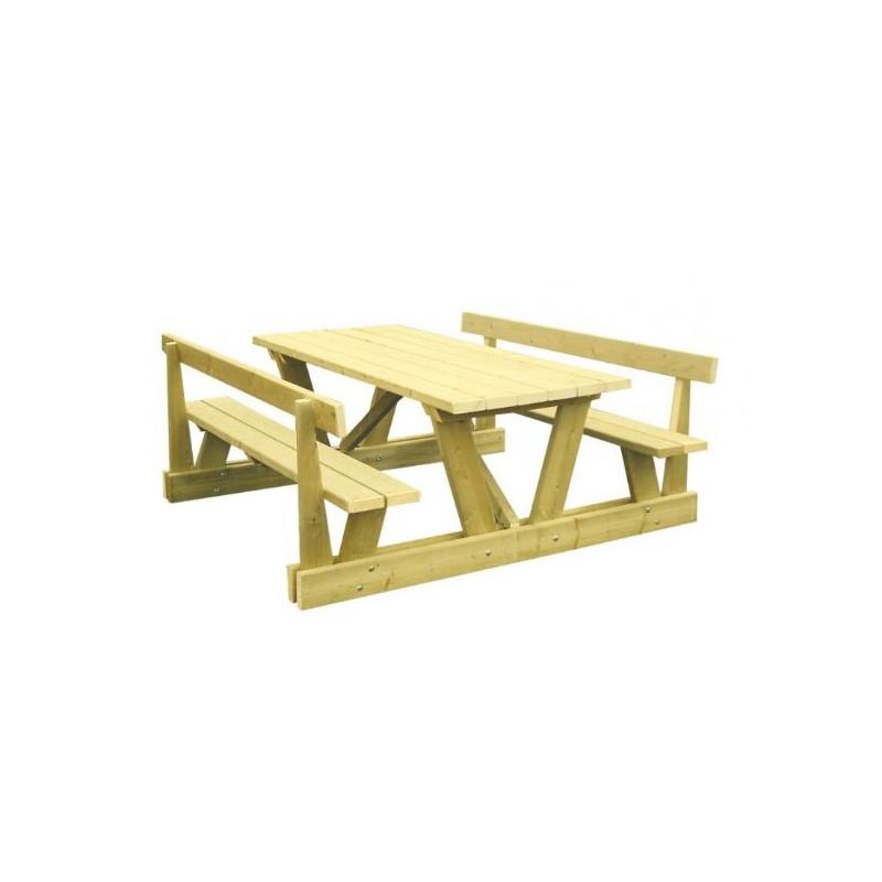 table de pique nique avec dossier table de pique nique. Black Bedroom Furniture Sets. Home Design Ideas
