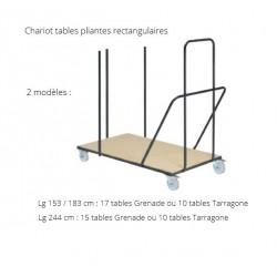 Chariot de stockage pour tables pliantes