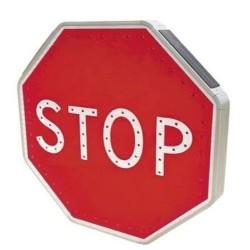 Panneau Stop lumineux solaire à leds type AB4