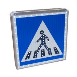 Panneau d'indication routière piétons lumineux