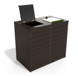 Abri cache conteneur à trappes en recyclé