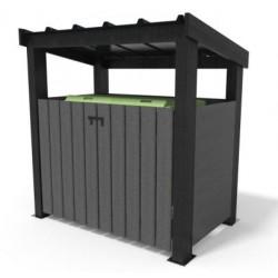 Abri pour conteneur à toit en recyclé - Leader Equipements