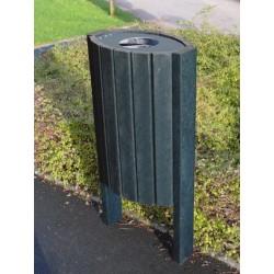 Corbeille extérieure ovale en recyclé - Leader Equipements