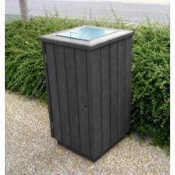 Poubelle à trappe Gardenia en recyclé - Leader Equipements
