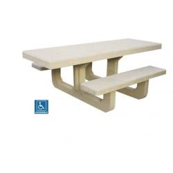 Table aire de repos PMR en béton Corail - Leader Equipements