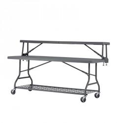 Buffet & table polypro pour collectivités 183 cm