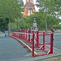 15 mètres de sécurité avec ce lot de 10 barrières