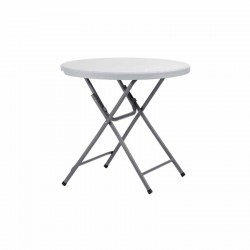 Table ronde blanche polypro 81 cm