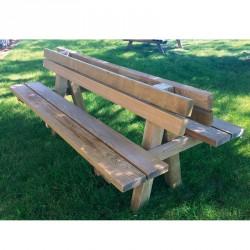 Double banc Pinède en bois pour 10 personnes