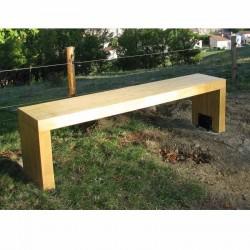 Banquette Beauregard, banc en bois sans dossier design