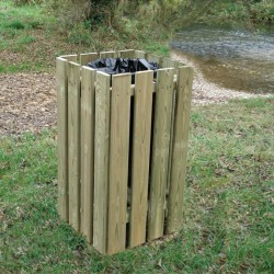 Corbeille campagnarde en bois de châtaigner