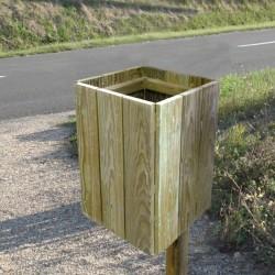 Corbeille en bois, Shetland, carrée, 50 litres