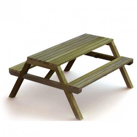 Table Littoral en bois pin pour 8 personnes