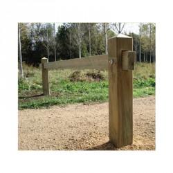 Barrière coulissante en bois autoclave