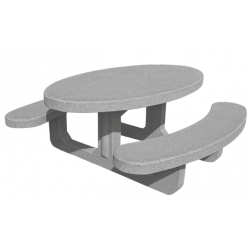 Table de picnic en béton Olga