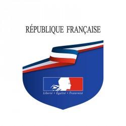"""Écusson estampillé """"République Française"""""""