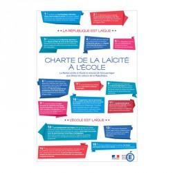 Plaque de la charte de la laïcité à l'école loi BLANQUER