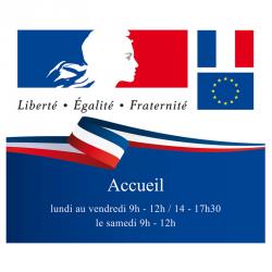 Plaque devise française personnalisée paysage