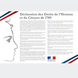 Plaque déclaration des droits de l'Homme en PVC ou en PLEXI