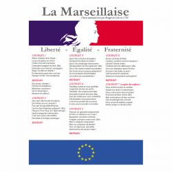 Affiche PVC rigide : La Marseillaise pour collège et lycée