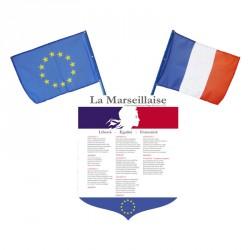 """Écusson porte drapeaux """"La Marseillaise"""" en PVC"""