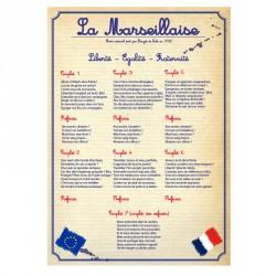 Affiche PVC rigide d'intérieur la Marseillaise version scolaire
