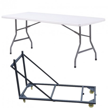 Lot de tables pliantes avec leur chariot lot de tables - Tables pliantes castorama ...