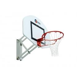 But de basket en acier, fixe, mural et ajustable