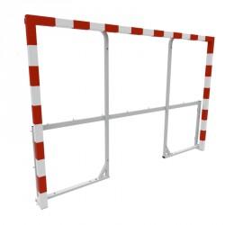 Cage de handball avec oreilles et base rabattables