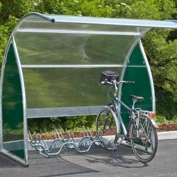 Abri modulable pour 6 vélos
