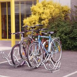 Râtelier acier zingué 2 niveaux pour 6 vélos