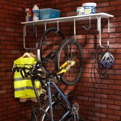 Rangement de vélo suspendu pour libérer la place au sol.