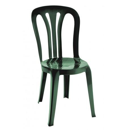 Chaise en plastique, légère verte