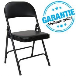 Lot de 6 chaises pliantes noires pour collectivités