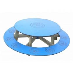 Table de pique nique pour enfant ronde
