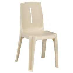 Chaise de collectivité en plastique empilable Salsa
