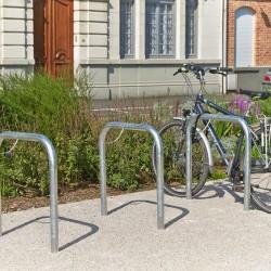 Barrière à vélo en acier galvanisé à sceller
