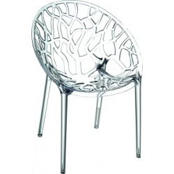 FAUTEUIL TRANSPARENT OU BLANC EMPILABLE ARUM