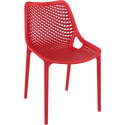 Une très belle chaise forme grille rouge