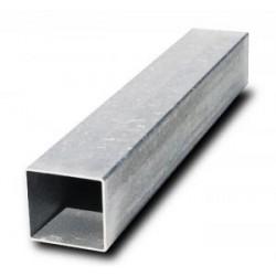 Poteau carré avec obturateur 80 x 80 x 2 mm